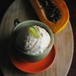 Papaya Lime Ice Cream
