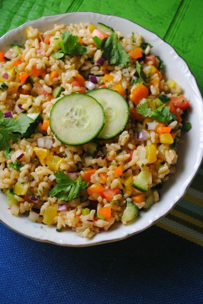 Brown Rice Salad recipe from sweetlifebake.com