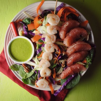 Shrimp Salad with Cumin Cilantro Dressing