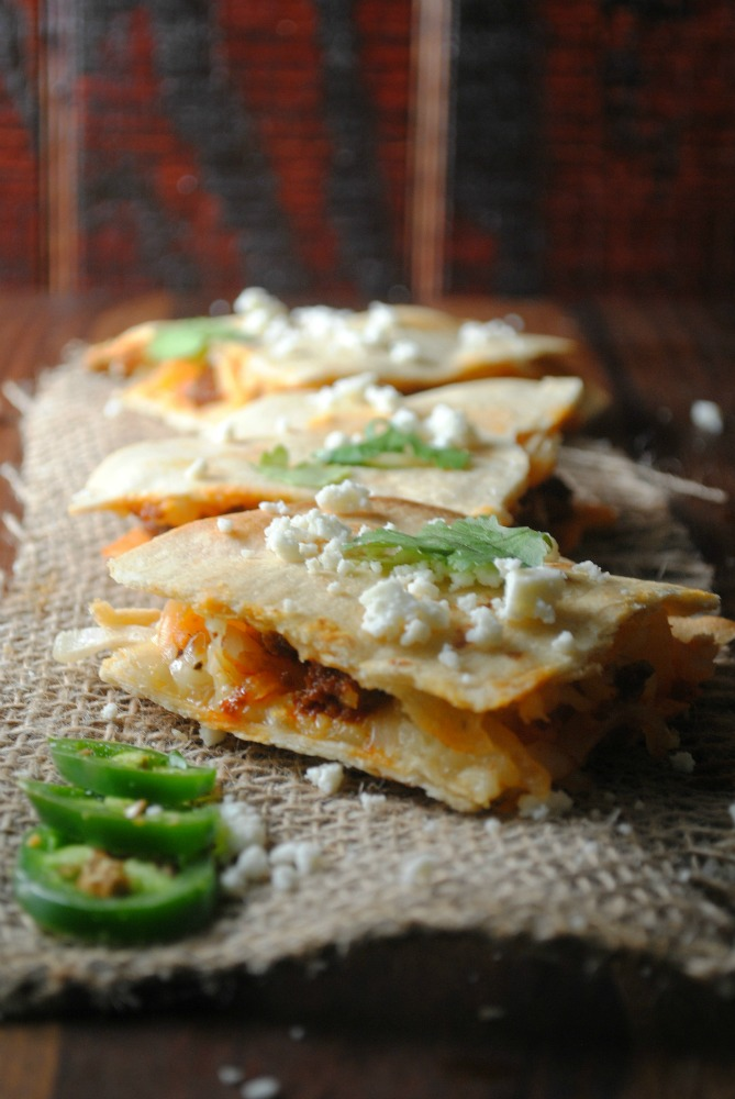 Potato Chorizo Quesadillas from sweetlifebake.com