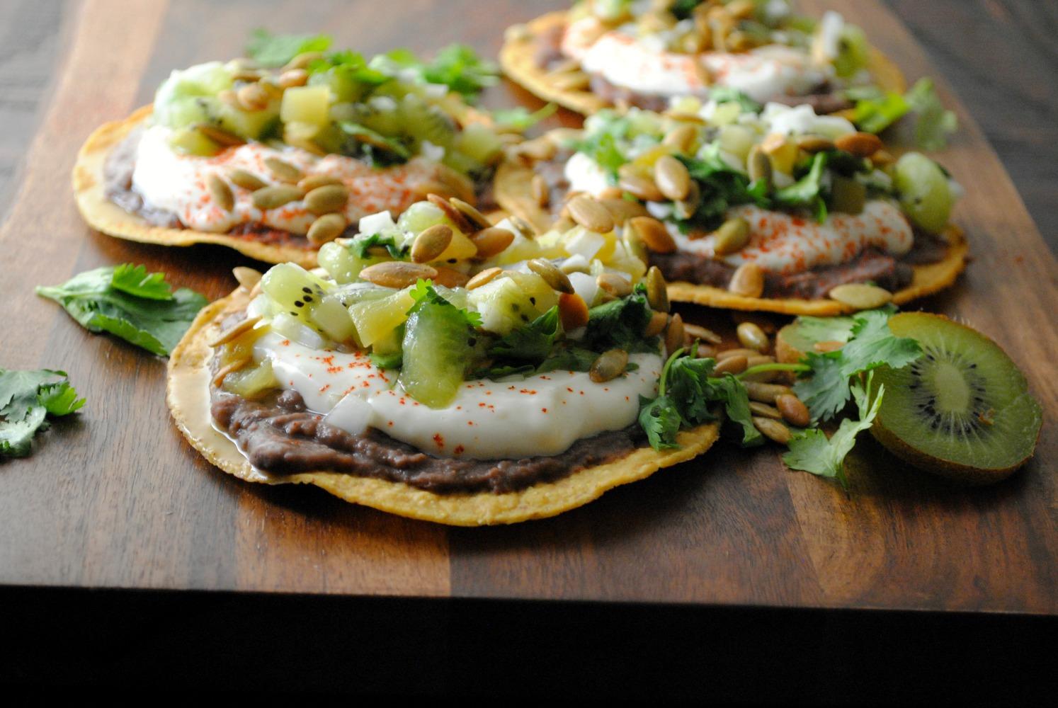 black-bean-tostadas-kiwi-salsa-VianneyRodriguez