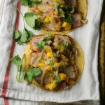 Pork Tenderloin Tostadas with Mango Salsa