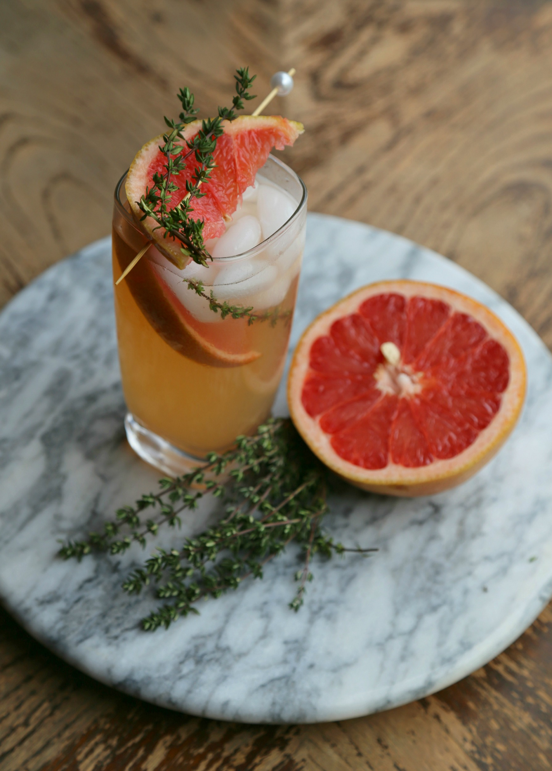 Grapefruit thyme mocktail sweet life for Cocktail 1789
