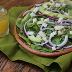 Mexican Spinach Salad with Mango-Lime Dressing