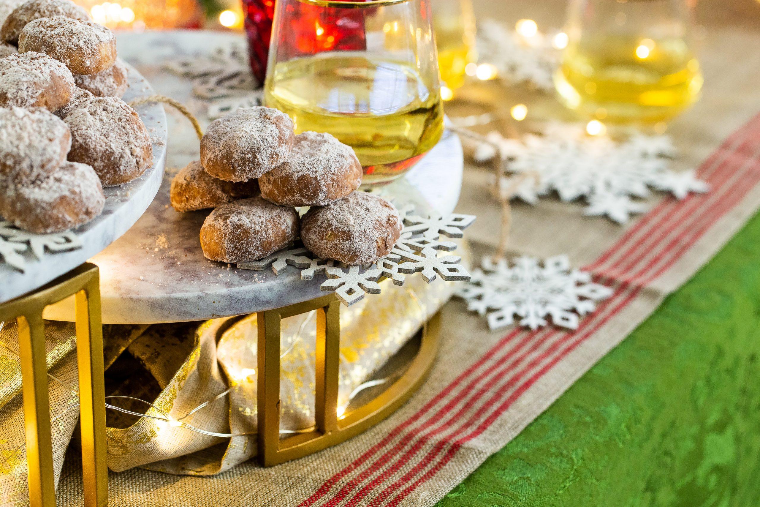 Cocoa Cashew Mexican Wedding Cookies
