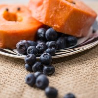 delicious papaya and blueberry salad