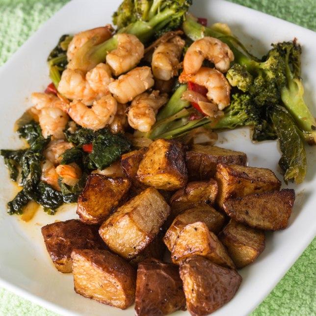 Broccoli and shrimpB-1-3