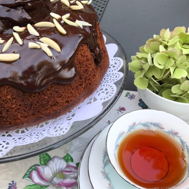Honey Cake With Chocolate Glaze