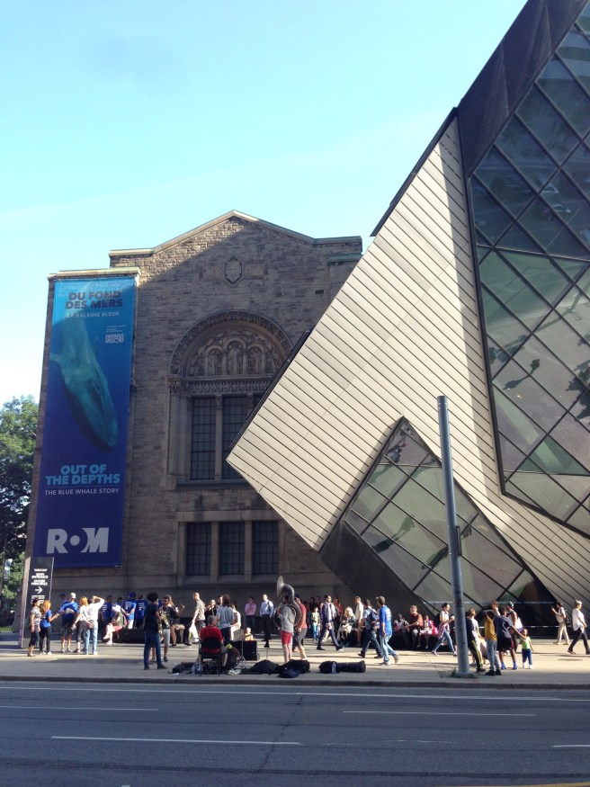 Summer music in the city of Toronto, outside the Royal Ontario Museum