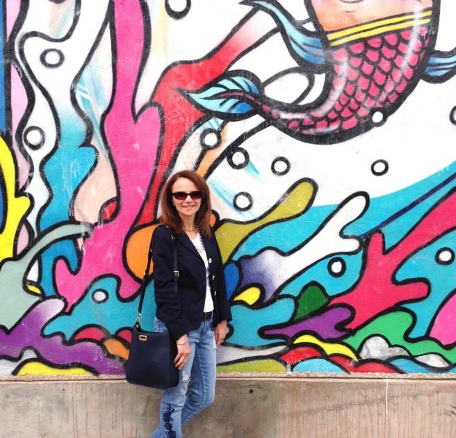 Street art on Queen St West in Toronto