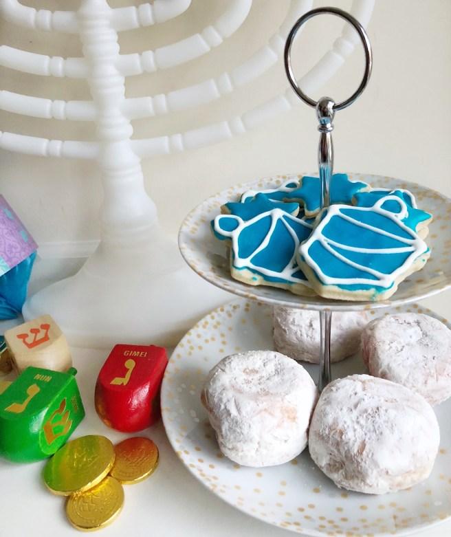 Hanukkah Sufganiyot, Gelt, & Cookies