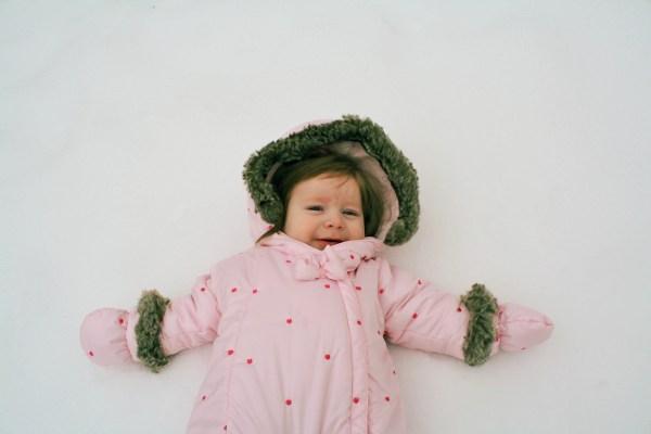 baby snow angel