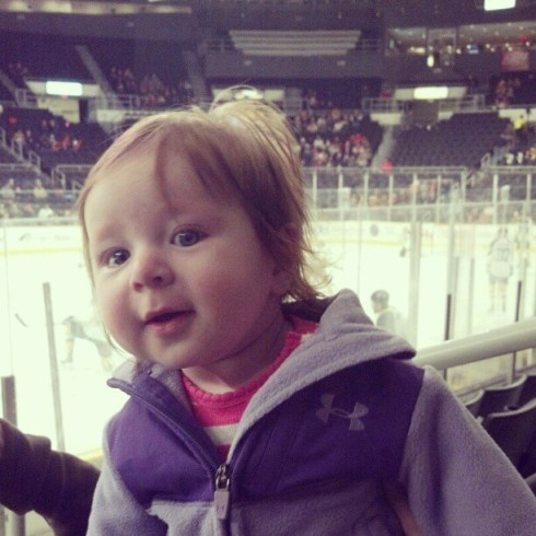 baby hockey game