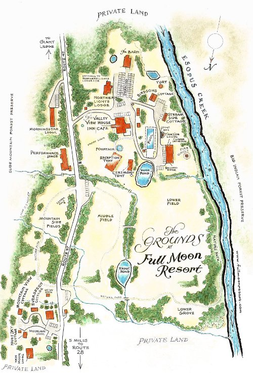 Map Courtesy of The Full Moon Resort