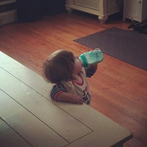 baby drinking bottle formula