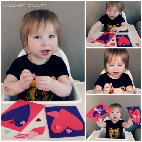 avery making valentines crafts toddler
