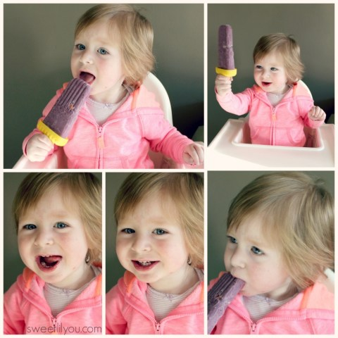 Avery Loves her Berries and cream pops! #TRKAmbassador Turkey Hill all Natural Ice Cream