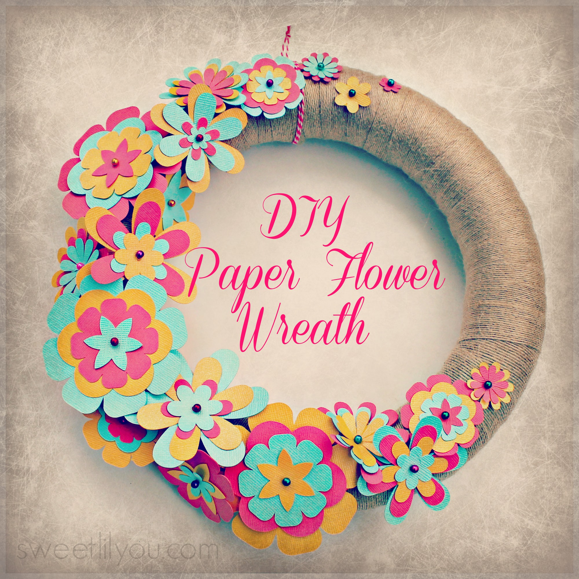 Easy DIY Paper Flower Wreath!