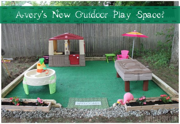 Easy DIY outdoor play space