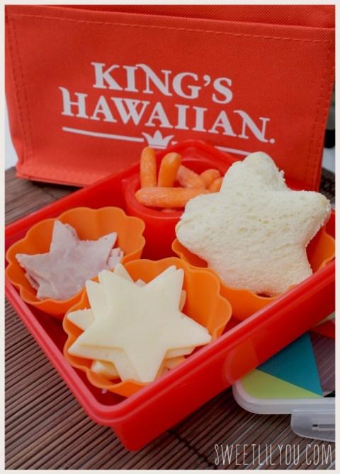 Kings Hawaiian bread mini sandwiches #lunchboxfun