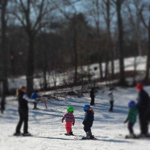 skiing yawgoo valley rhode island winter