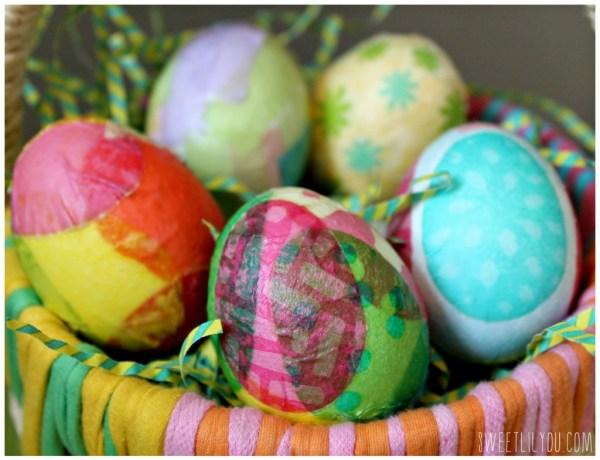 Tissue and Napkin Decoupage Easter Eggs