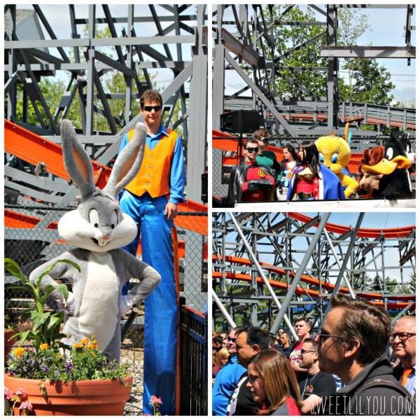 Celeb sightings at Six Flags! Bugs, superheroes, Rob from Biggest Loser Season 16