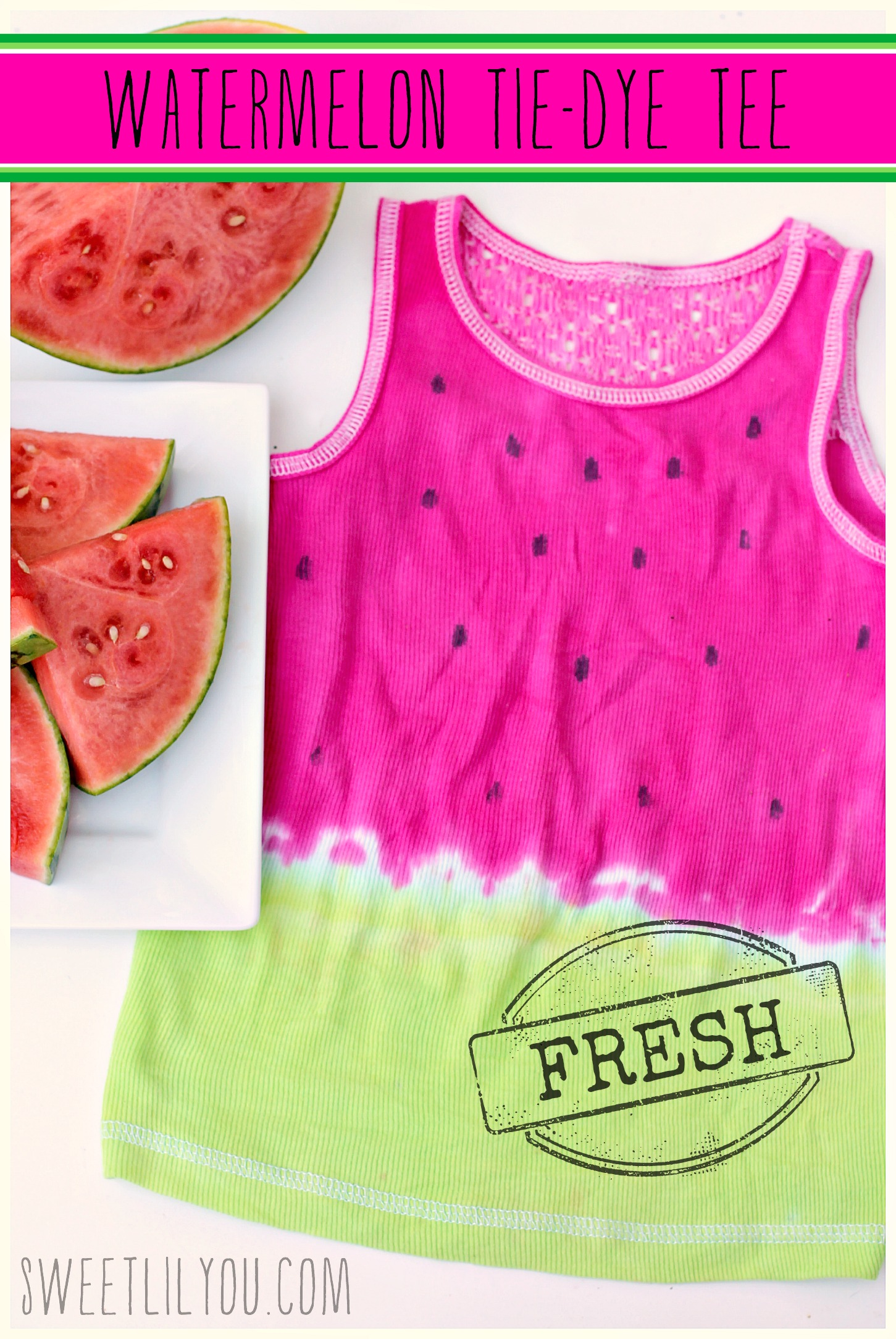 Watermelon Tie Dye Tee Sweet Lil You