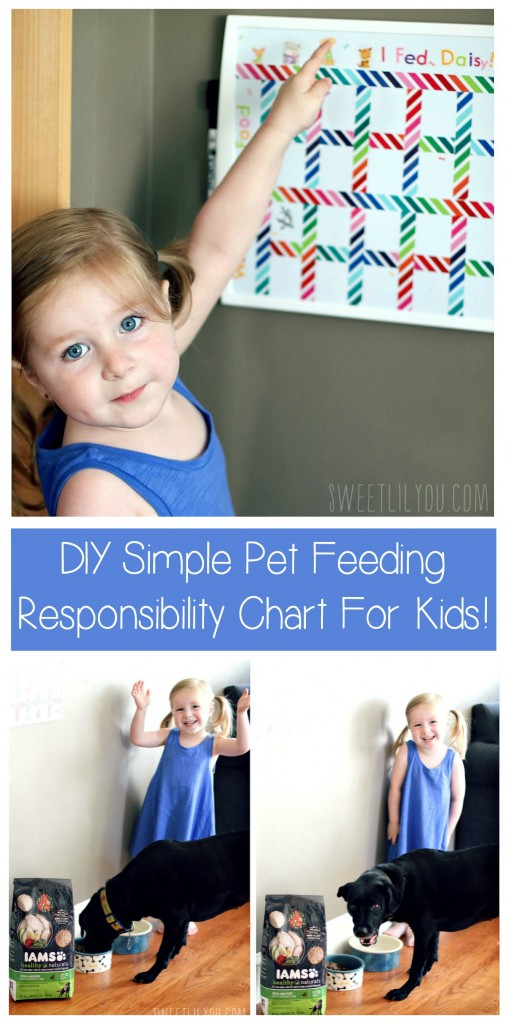 DIY Simple Pet Feeding Responsibility Chart for Kids  #1StopPetShop #Ad