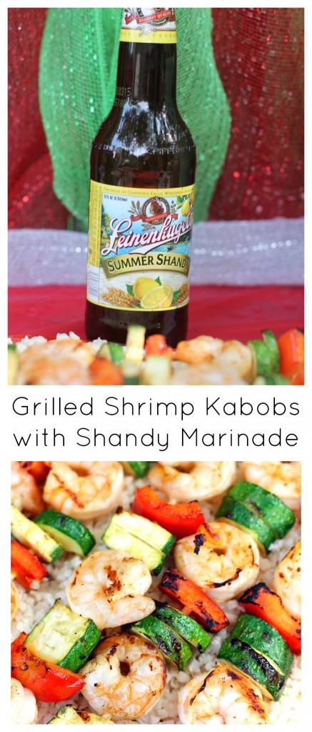 Grilled Shrimp Kabobs with Shandy Marinade