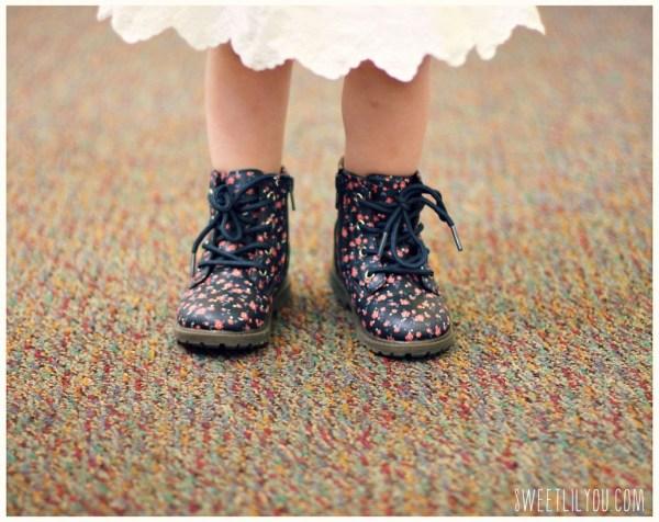 OshKosh floral combat boots