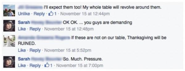 Thanksgiving pressure
