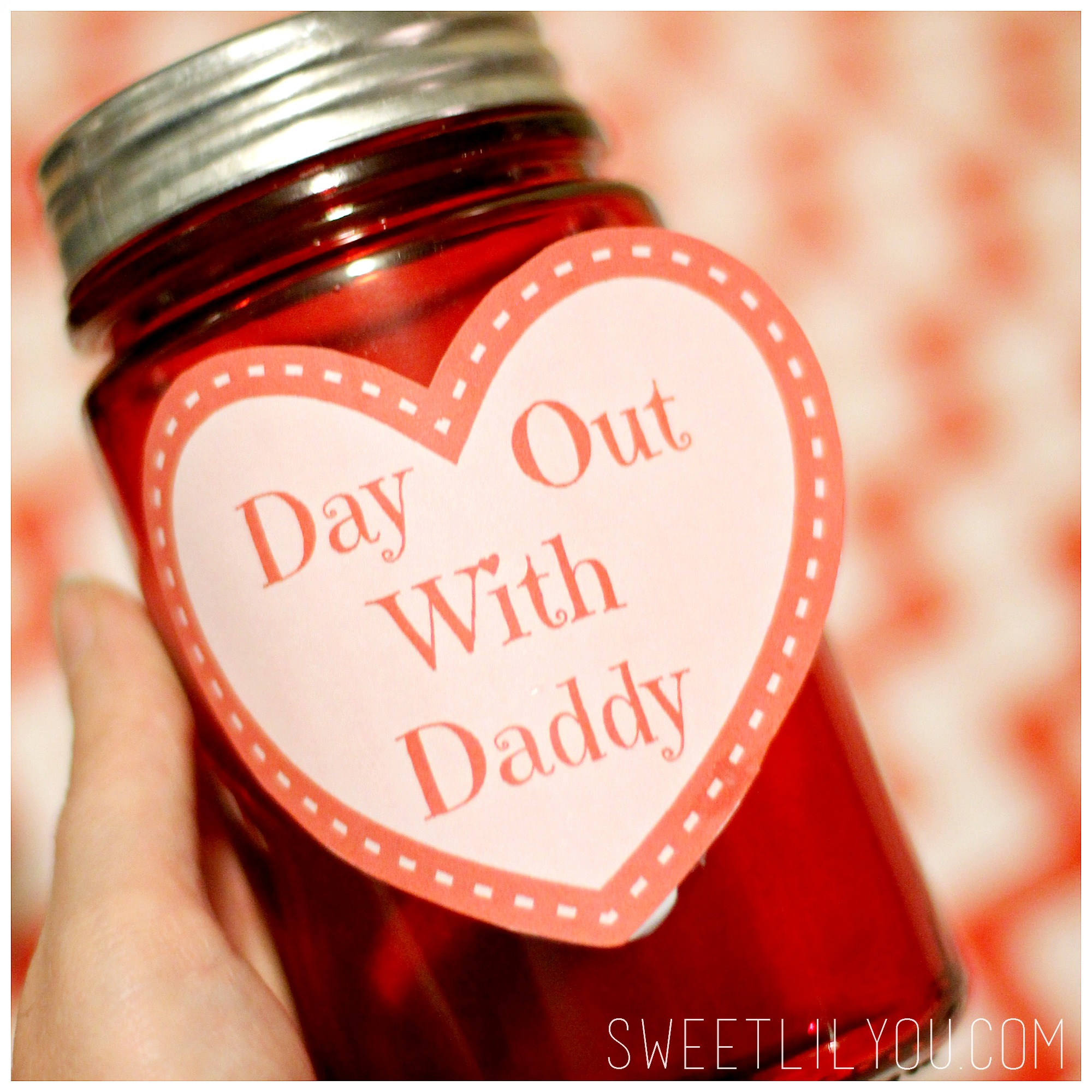 Day Out With Daddy Jar Valentines Day Gift For Dad Sweet Lil You