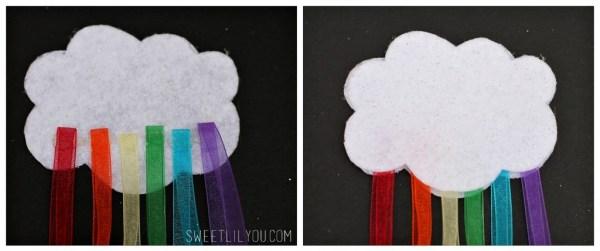 Easy Rainbow Cloud Hair Clip