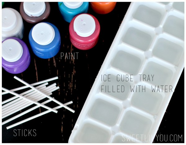 Ice Painting supplies