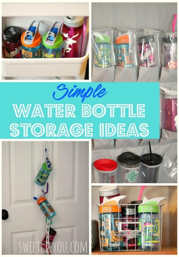 simple water bottle storage ideas