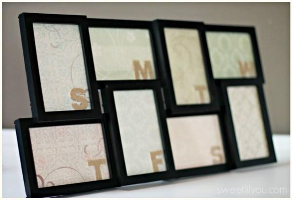 weekly planner frame