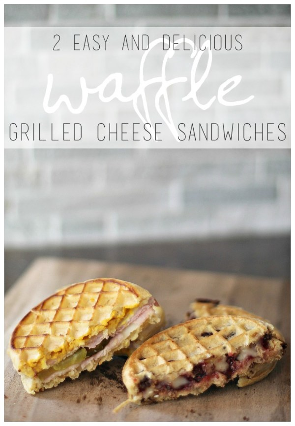 Easy Waffle Grilled Cheese Sandwiches