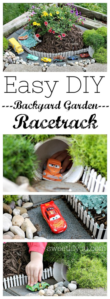 Easy DIY Backyard Racetrack - Easy way to keep kids entertained all summer long