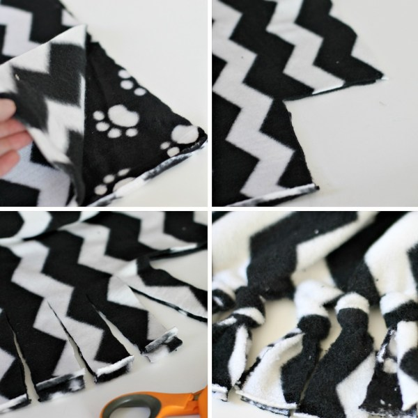 Easy DIY Fleece Blanket Pillow