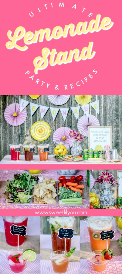Ultimate Lemonade Stand Party and Recipes sweetlilyou