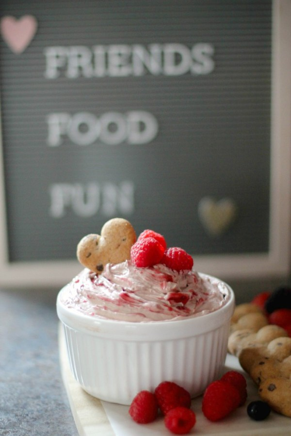 Chocolate Rasberry dip for cookies and fruit