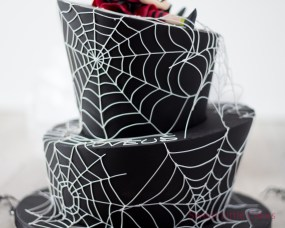 Spiderweb Wonky Cake