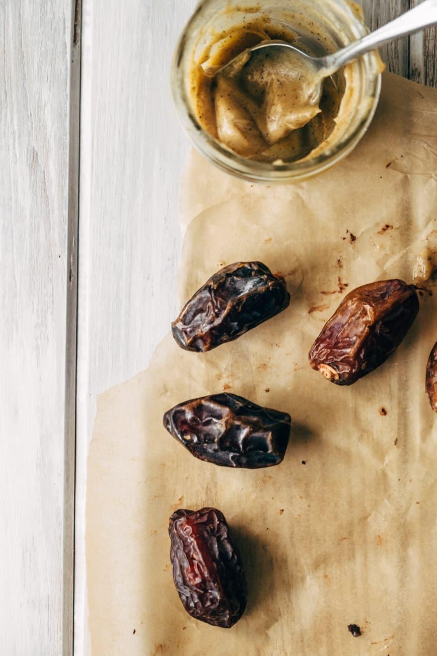 Chocolate Covered Chai Chaga Ghee Stuffed Dates #Paleo #dessert #recipe