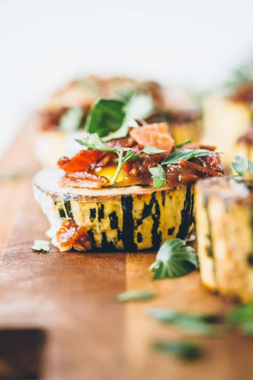 Roasted Delicata squash with eggs (whole30, paleo)