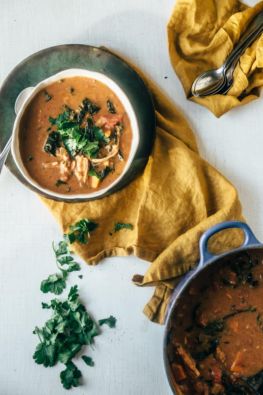 Chicken and Kale Almond Butter Stew