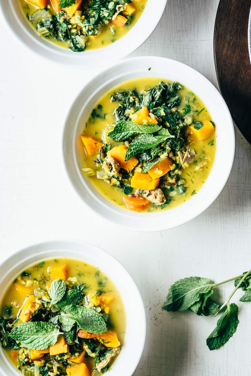 Spring Lemon Herb Soup