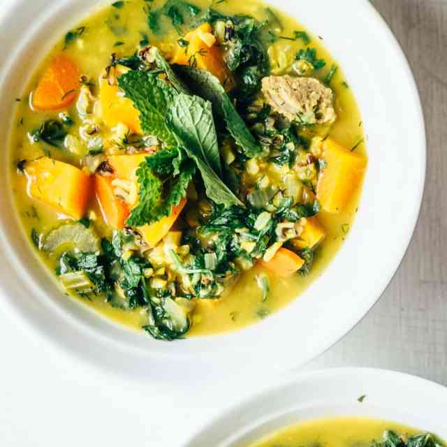 Spring Lemon Herb Soup