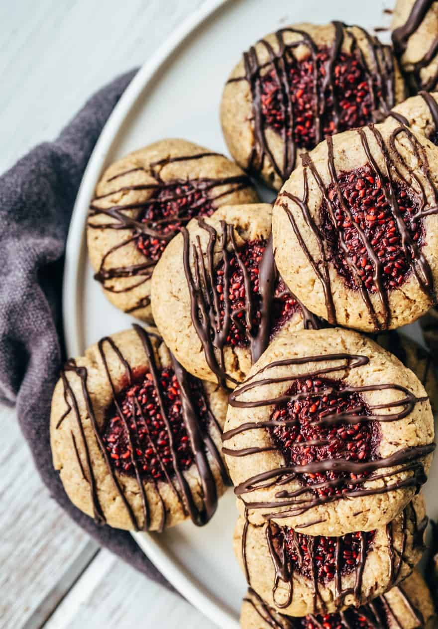 thumbprint cookies (paleo, vegan)