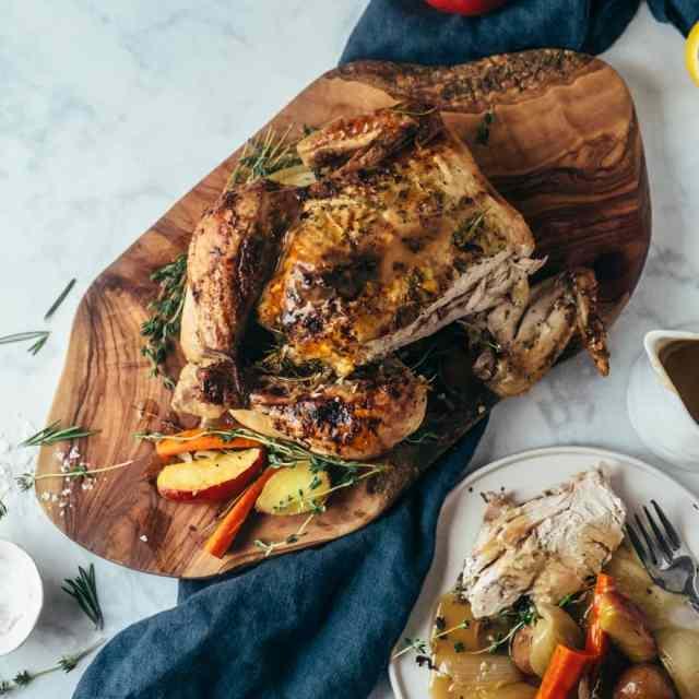Roast Chicken with Apple Cider
